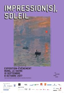 """Poster for """"Impression(s), soleil"""" exhibition"""